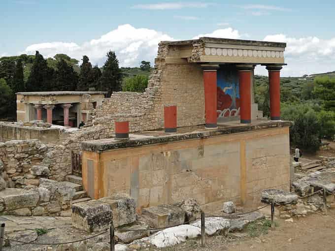 Vestiges archéologiques de Knossos en Crête
