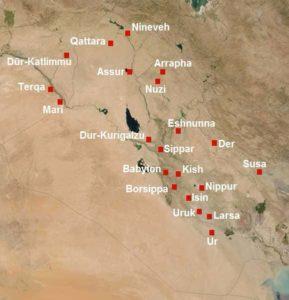 Les cités de mésopotamie