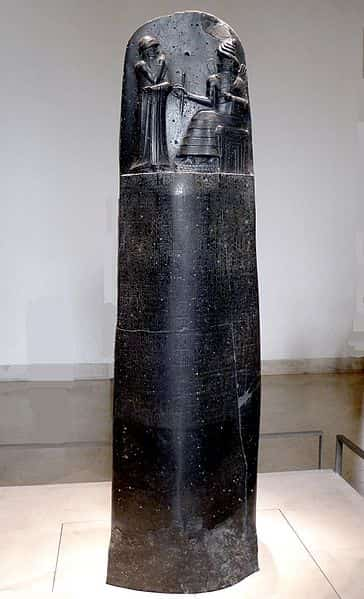 La stèle du Code d'Hammourabi