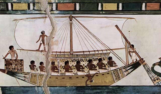 Navire de commerce et d'exploration égyptien
