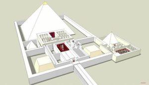 Reconstitution schématique d'une pyramide