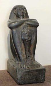 Exemple de statue cube du Moyen Empire