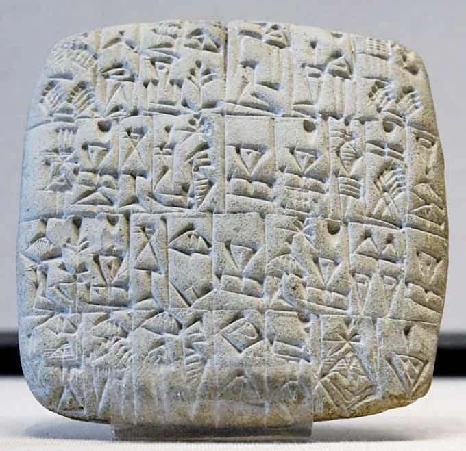 Idéogrammes et pictogrammes de l'écriture summérienne