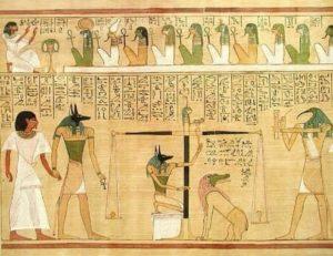 Inscriptions funéraires dans les hiéroglyphes égyptiens