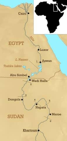 Où se trouve la Nubie ?