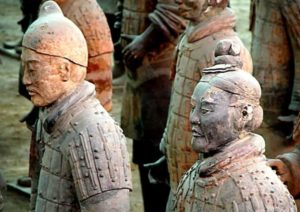 Armée de soldats en terre cuite de Shi Huangdi