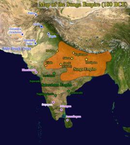 Carte de l'empire Sunga
