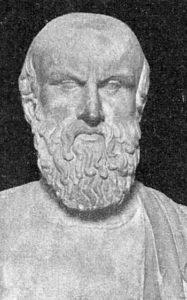 Buste en marbre d'Eschyle