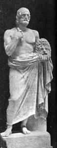 Statue d'Euripide