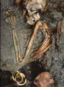 Squelette en cendres Vésuve