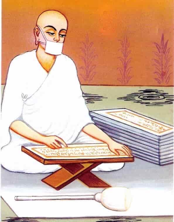 Représentation d'un moine jaïniste