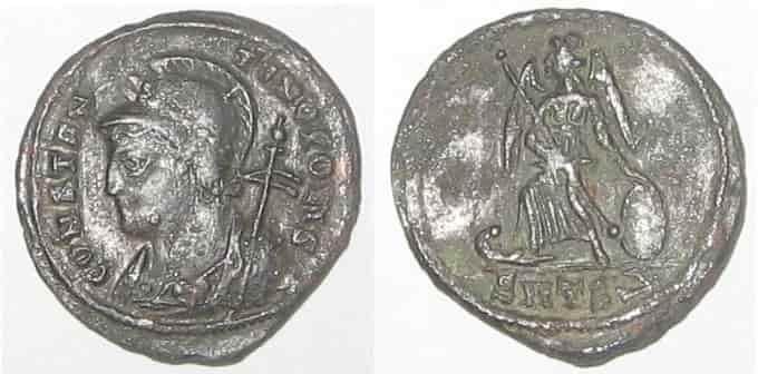 Pièce de monnaie à l'effigie de Constantin le Grand