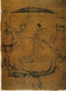 Peinture sur soie en Chine antique sous les Zhou