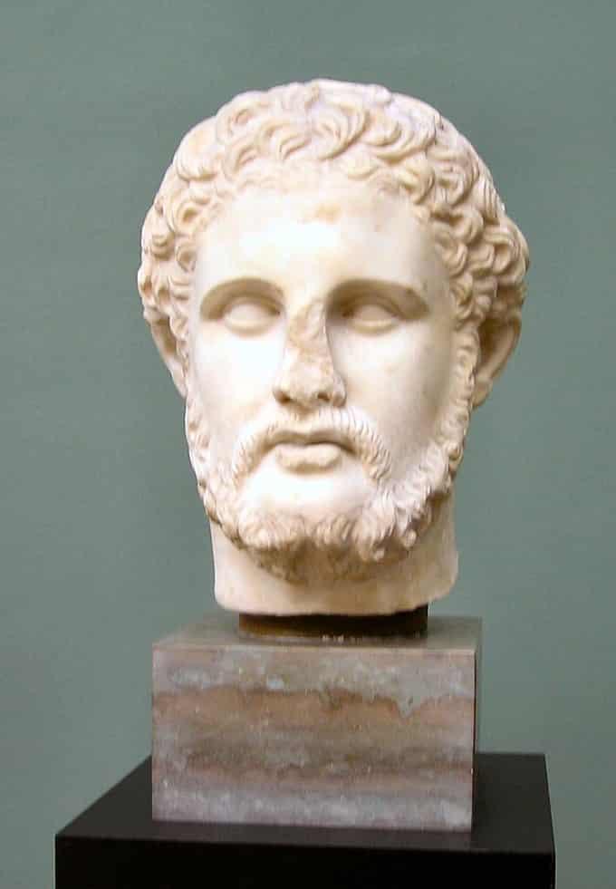 Buste de Philippe II père d'Alexandre le Grand