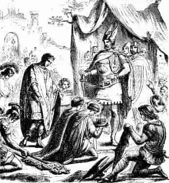 Romulus Augustule deposé par Odoacre