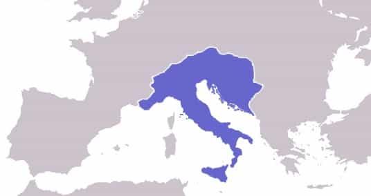 Carte du royaume ostrogoth
