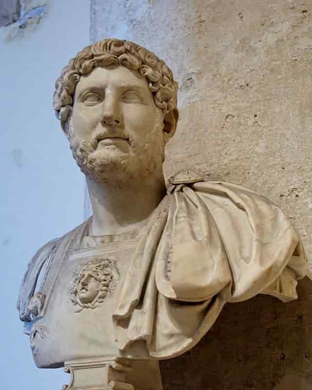 Représentation de l'empereur romain Hadrien