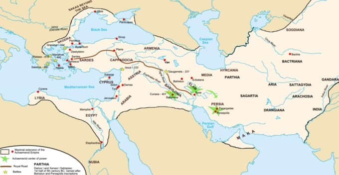 L'empire achménide sous Darius