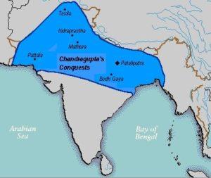 Carte de l'empire Maurya