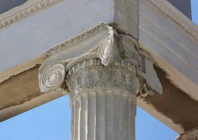 Chapiteau colonne de l'Acropole