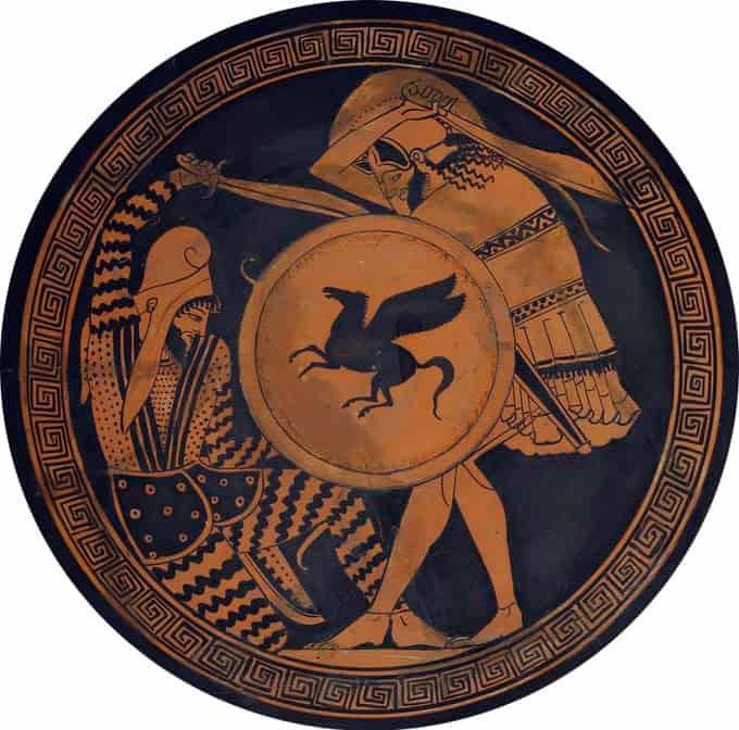 Combat entre les grecs et les perses