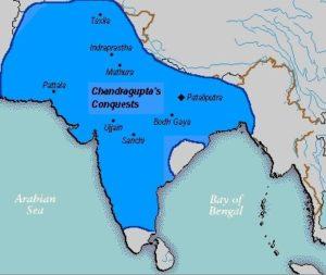 Carte de l'empire Maurya en 290 av. J.-C.