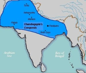 Carte de l'empire Maurya en 305 av. J.-C.