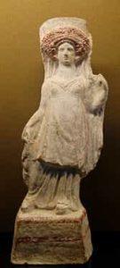 Représentation de femme voilée byzantine