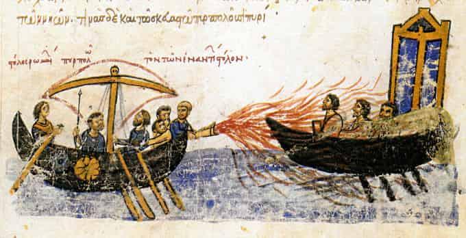 Feu grégeois dans l'antiquité