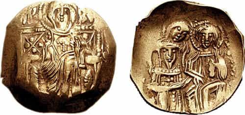 Pièce en or byzantine