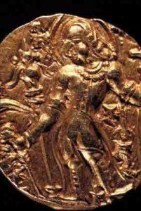 Pièce de monnaie numismatique Gupta