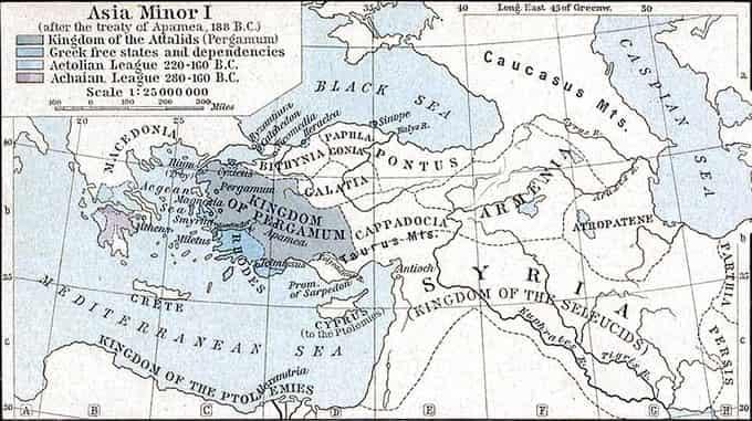Carte du royaume de Pergame
