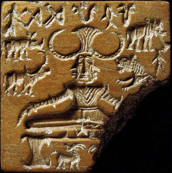 Sceau provenant de fouilles à Mohenjo-daro