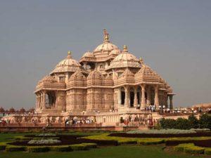 Temple d'Akshardham près de Delhi, le plus grand temple hindou