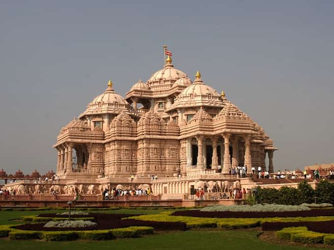 Temple d'Akshardham près de Delhi, le plus grand temple hindou