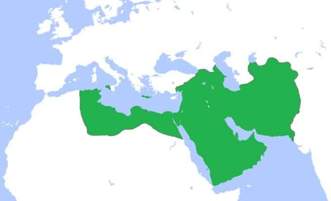 Carte du califat abbasside à son apogée en 850