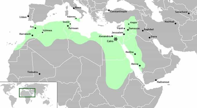 Carte du califat fatmide