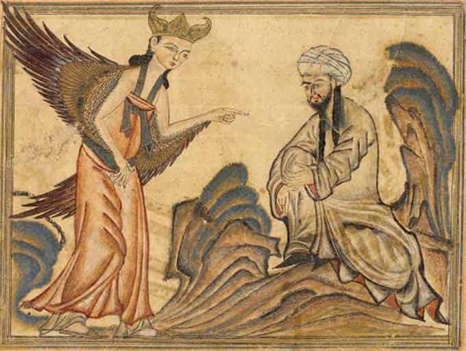 L'Ange Gabrièle révèle le Coran au Prophète Mahomet